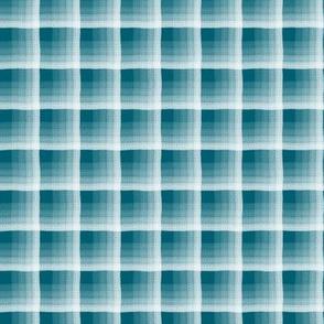 Soft Plaid Ocean Blue