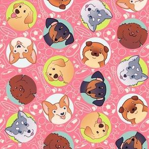 Playful Puppies - Pink