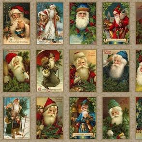Vintage Santa Panel-A