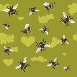 Silly Bees Green