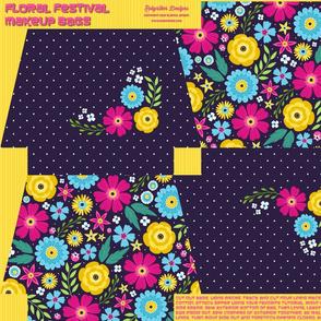 Floral Festival Makeup Bags