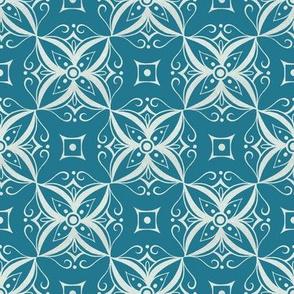 Thai Inspired Pattern Blue