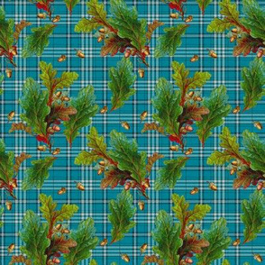 Kinlock Forest Tartan mini tudor blue
