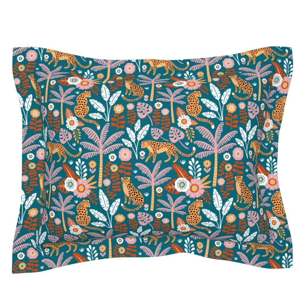 Sebright Pillow Sham featuring jungle leopard  by mirabelleprint