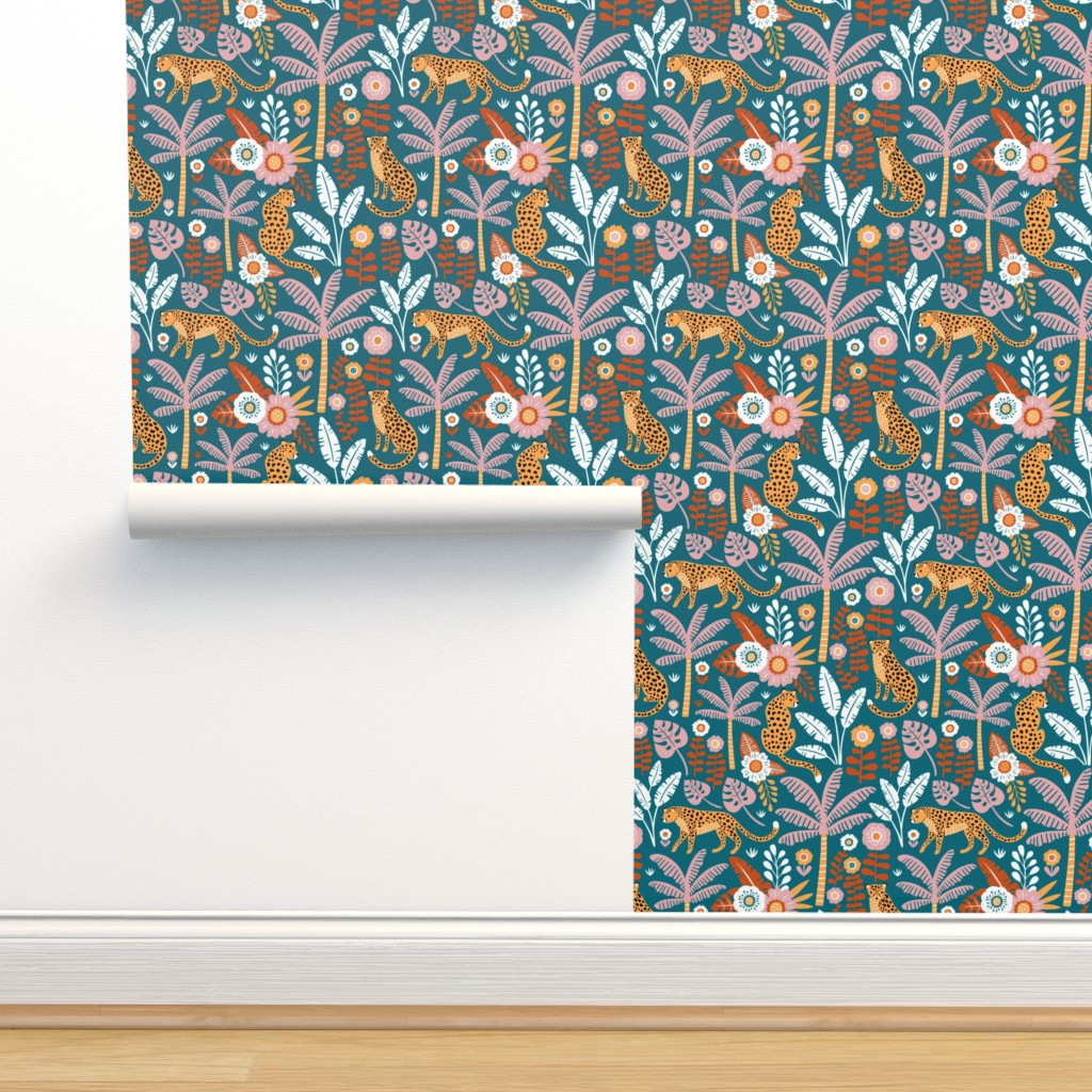 Isobar Durable Wallpaper featuring jungle leopard  by mirabelleprint