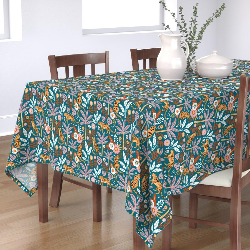 Bantam Rectangular Tablecloth featuring jungle leopard  by mirabelleprint