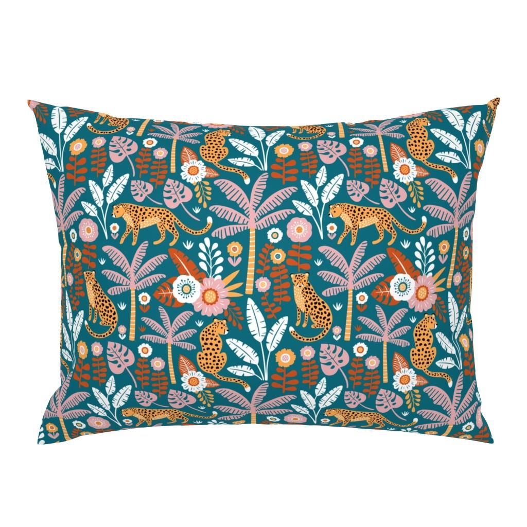 Campine Pillow Sham featuring jungle leopard  by mirabelleprint