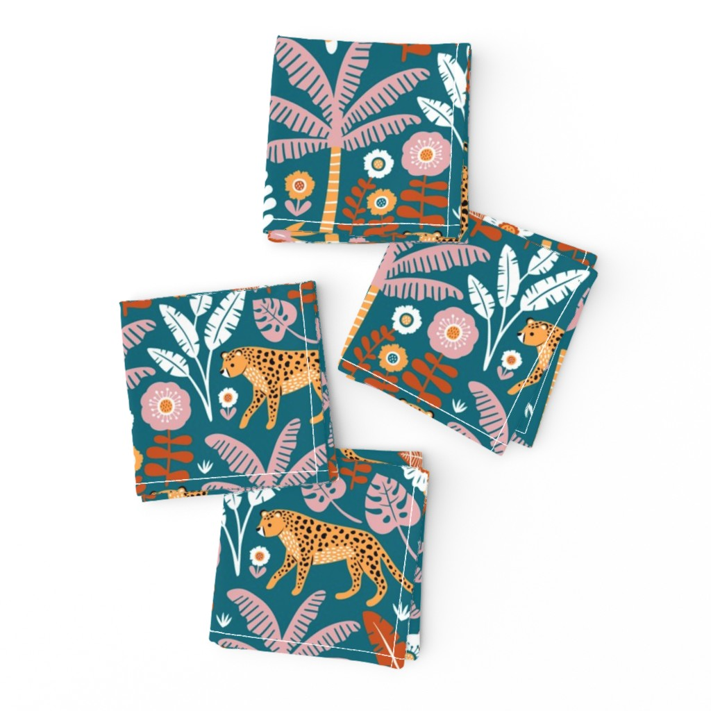 Frizzle Cocktail Napkins featuring jungle leopard  by mirabelle_print