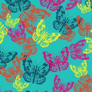 Butterfly Flurry in bright colors
