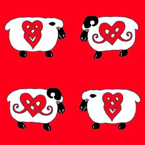 Celtic Ram and Ewe 1 red