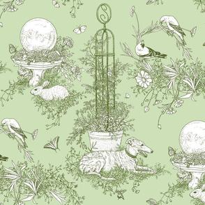 Green Garden Toile Large  ©2011 by Jane Walker