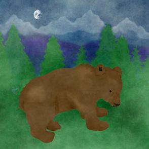 Brown Bear Glacier Pillow