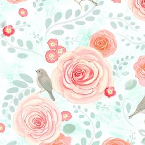 hedgerow roses / peach