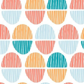 Pastel ellipses with lines