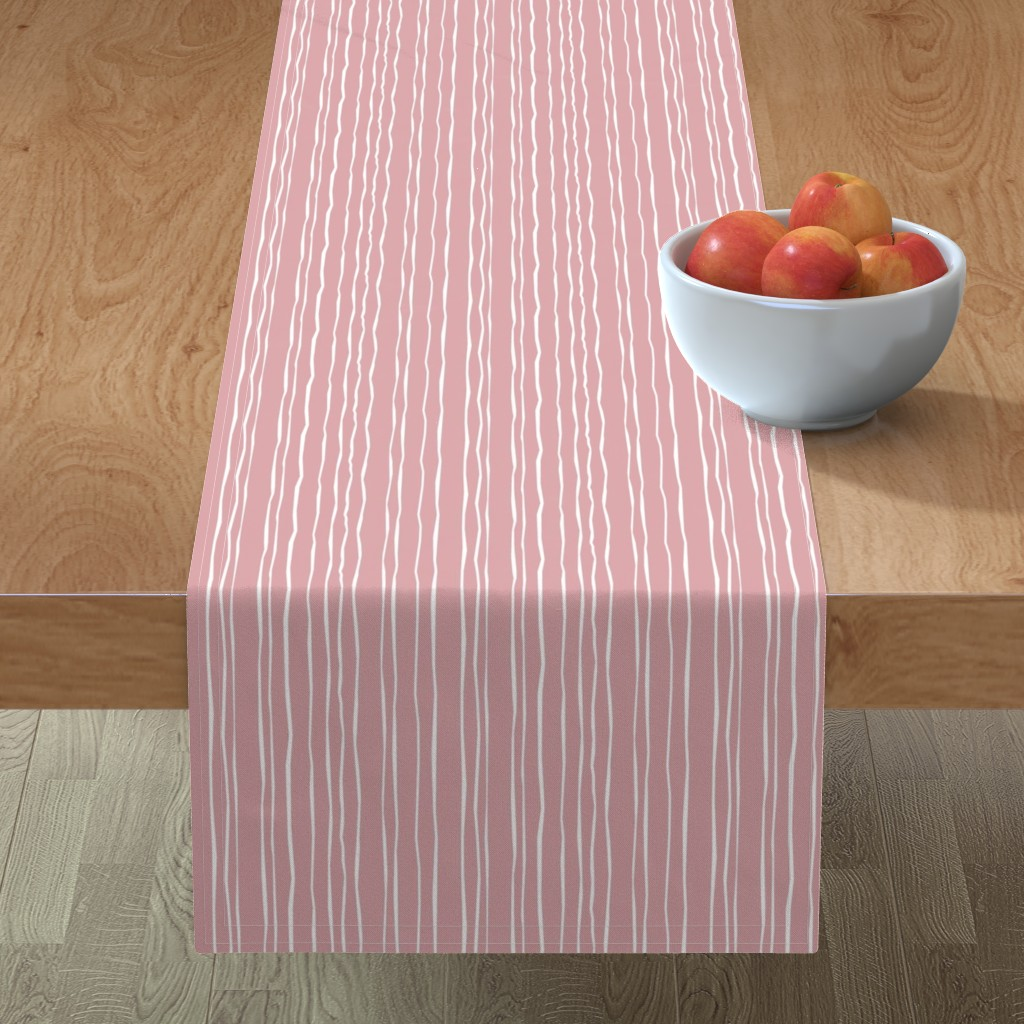 Minorca Table Runner featuring Wide Blush Stripe by autumn_musick