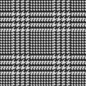 Knitted houndstooth check black & white Wallpaper Fabric