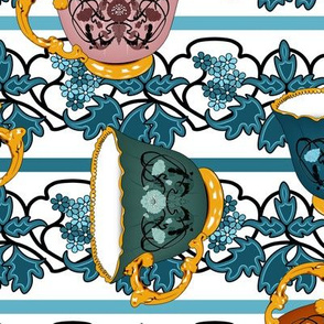 Art Nouveau Tea Cups