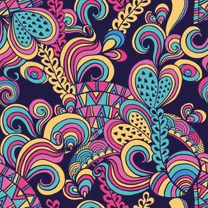 60s hippie pattern