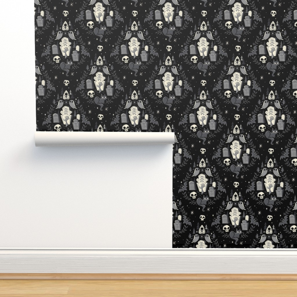 Isobar Durable Wallpaper featuring Graveyard Ghouls by therewillbecute