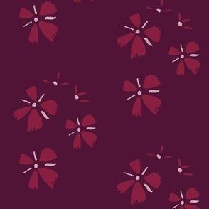 Small bordeaux flowers