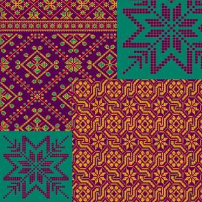 knitting fair isle 2 jewels