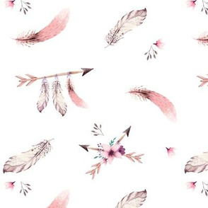 Bohoo - feathers - white SMALL
