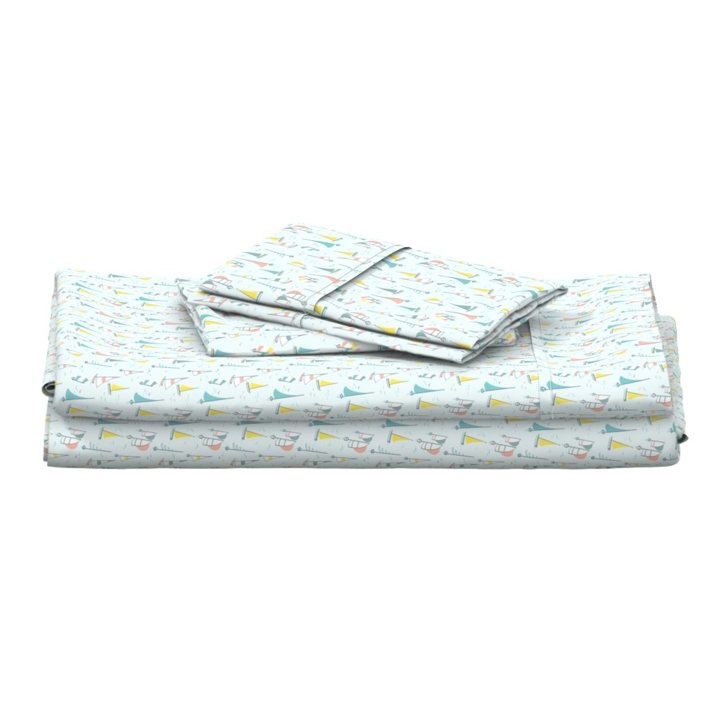 Langshan Full Bed Set featuring Sail boats by charlotte_lorge