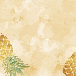 Watercolor Pineapple / Large Scale