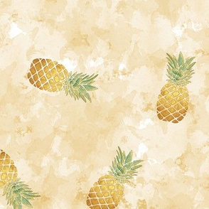 Watercolor Pineapple / Medium Scale
