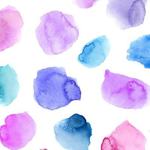 Watercolor tenderness, larger scale || painted polka dot pattern for nursery, baby, kids