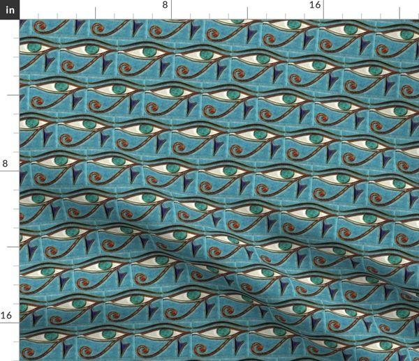 Fabric by the Yard Eye of Horus Inlay