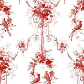 McCallister Toile  ~ Turkey Red and White