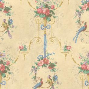 McCallister Toile  ~ Parchment Watercolor