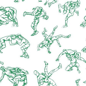Wrestling-Green-White