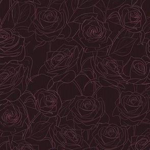 Moody Purple Roses