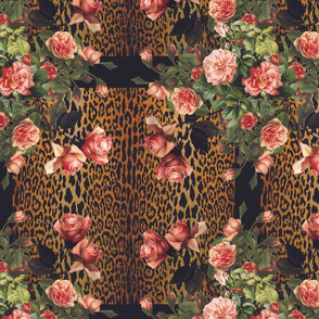 Leopard and Roses