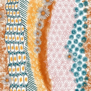 Kimono Aster Abstract V1 october limited palette
