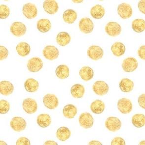 Gold (imitation, not metallic paint) polka dots pattern