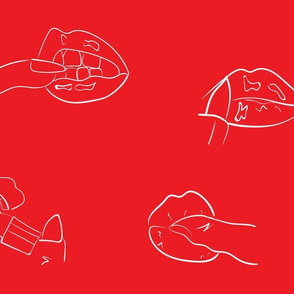 FLIRT DITSY LIPS AND LIPSTICKS RED