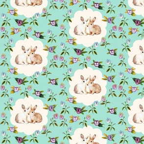 Bunnies in Love_New_MintyFloral_HalfDrop
