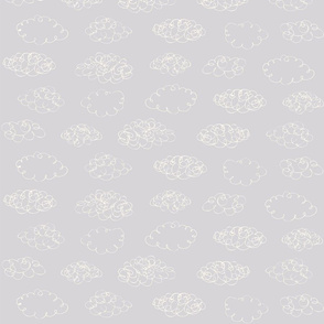 Print clouds messy reapeat autumn winter 2018-2019 grey white 150 dpi
