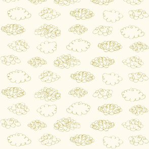 Print clouds messy reapeat autumn winter 2018-2019 white and oker 150 dpi