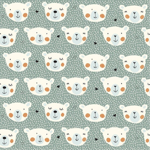 Print polarbears 1 winter 2018-2019 green and brown and snow 150 dpi