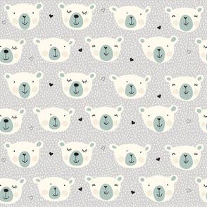 Print polarbears 1 winter 2018-2019 grey and snow 150 dpi