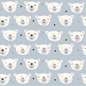 Print polarbears 1 winter 2018-2019 old light blue and snow 150 dpi