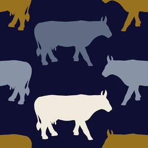 Cow Sides - Indigo