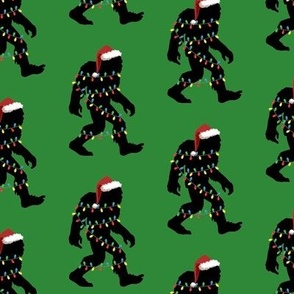 Christmas Bigfoot Green