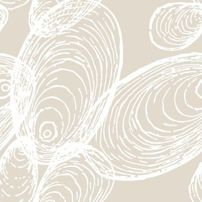 Shells Pattern in Cream and Beige