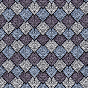 Dragon Scales Blue- Purple -White