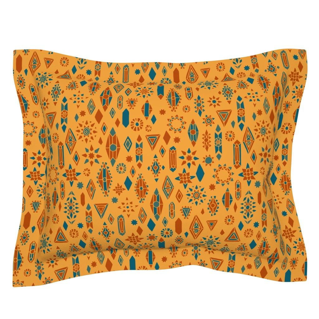 Sebright Pillow Sham featuring Southwest Boho by leiah